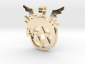 Homonculus [pendant] in 14k Gold Plated Brass