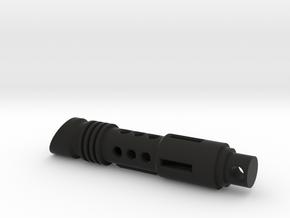 lightsaber tritium keychain in Black Premium Versatile Plastic