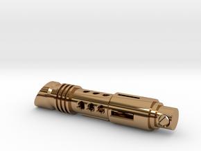 lightsaber tritium keychain in Polished Brass