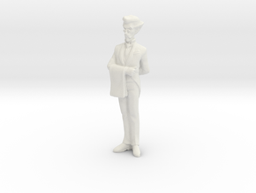 1/24 Butler Standing-by in White Natural Versatile Plastic