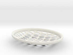 Colosseum Fruit Basket in White Natural Versatile Plastic