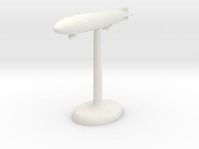 Zeppelin German Airship in White Natural Versatile Plastic