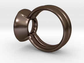 The UP Ring by CREATURE DESIGNS in Polished Bronze Steel
