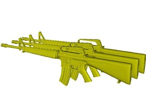 1/16 scale Colt M-16A1 rifles x 3 in Smooth Fine Detail Plastic