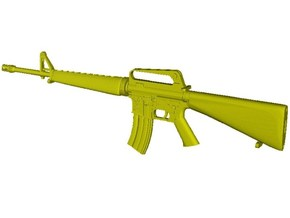 1/16 scale Colt M-16A1 rifle w 30rnds mag x 1 in Smooth Fine Detail Plastic