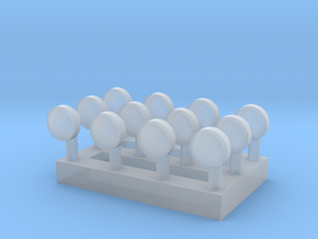 1/64 Round Lights in Smooth Fine Detail Plastic