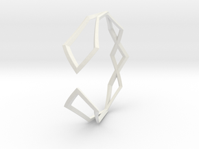 HIDDEN HEART Sharp M, Bracelet in White Premium Versatile Plastic: Extra Small