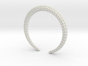 DRAGON Solid, Bracelet. Pure, Strong. in White Natural Versatile Plastic: Medium