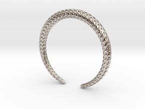 DRAGON Solid, Bracelet. Pure, Strong. in Rhodium Plated Brass: Medium