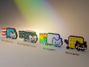Nyan cat figurines in Full Color Sandstone