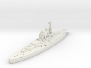 Bayern Class Battleship (Germany) GW1914 in White Natural Versatile Plastic