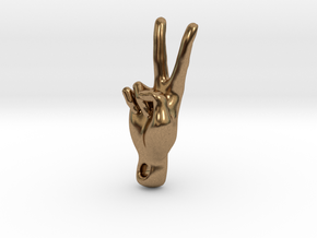 peace sign in Natural Brass