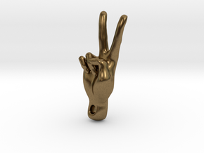 peace sign in Natural Bronze