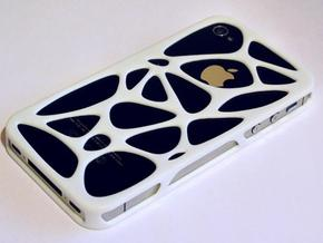 iPhone 4 / 4s case - Cell in White Strong & Flexible Polished