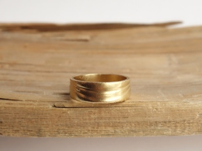Ebb and Flow Ring No. 3 - Single Wave, Size 9 in 14K Gold