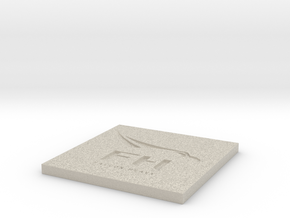 SpaceX Falcon Heavy Themed Coaster in Natural Sandstone