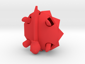 Squishy Turtle - Spikey in Red Processed Versatile Plastic