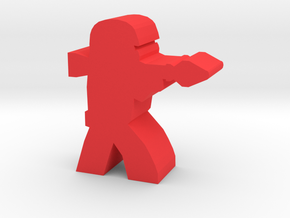 Game Piece, Red Force RPG Trooper in Red Processed Versatile Plastic