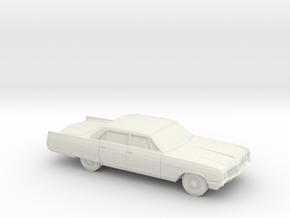 1/87 1964 Buick Electra 6 Window Sedan in White Natural Versatile Plastic