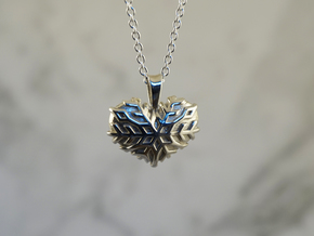 Frozen Heart in Polished Silver