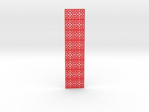Openwork bookmark in Red Processed Versatile Plastic