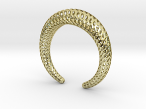 DRAGON Strutura, Bracelet Thick. in 18k Gold Plated Brass: Medium