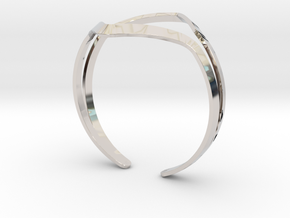 YOUNIVERSAL YY Bracelet in Rhodium Plated Brass: Medium