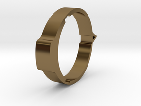 Theta - Protractor Ring: Pointer in Polished Bronze