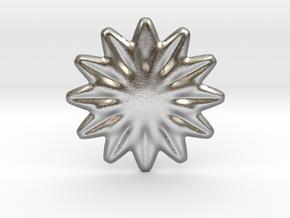 Flower shape for earrings or pendant in Natural Silver