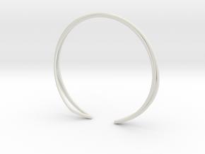 A-LINE Enmotion, Bracelet  in White Natural Versatile Plastic: Medium
