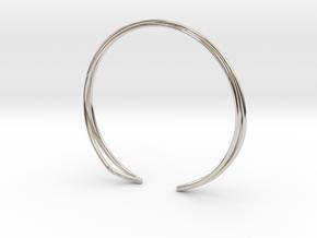 A-LINE Enmotion, Bracelet  in Rhodium Plated Brass: Medium