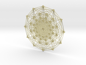 E7 (3_21 Polytope) Projected to 2D E6 Coxeter in 18k Gold Plated Brass