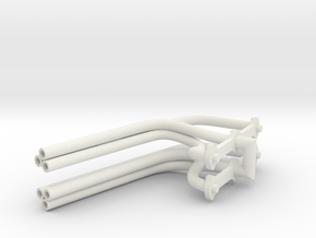 1/8 Olds Rocket Shotgun-style Headers in White Natural Versatile Plastic
