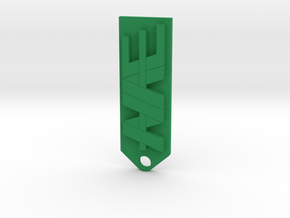 NAE farms key chain in Green Processed Versatile Plastic