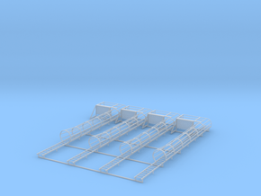 1/64 ladder cage left platform set 4 in Smooth Fine Detail Plastic