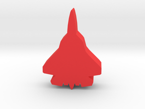 Game Piece, Red Force Stealth Fighter in Red Processed Versatile Plastic