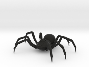 Large Spider in Black Premium Versatile Plastic: Medium
