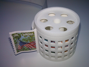 stamp roll dispenser The Postmaster guided in White Natural Versatile Plastic