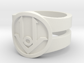 Ring Design ACE 01 in White Natural Versatile Plastic