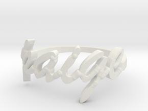Paige Ring in White Natural Versatile Plastic: 5.5 / 50.25