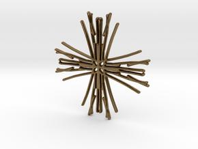 Raw cross in Natural Bronze