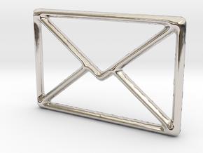 Mail shape for pendants or earrings... in Platinum