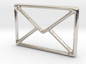 Mail shape for pendants or earrings... in Rhodium Plated Brass