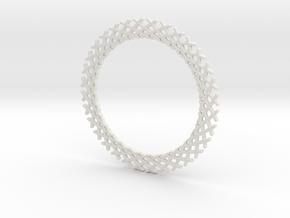 Mandala ring shape for pendants or earrings in White Natural Versatile Plastic