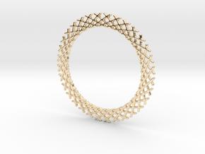 Mandala ring shape for pendants or earrings in 14k Gold Plated Brass