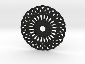 Mandala shape in Black Natural Versatile Plastic
