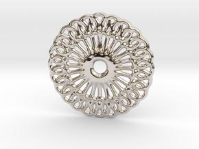 Mandala shape in Rhodium Plated Brass