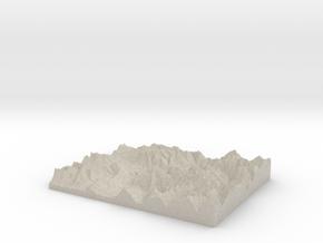 Model of Marten Creek in Natural Sandstone