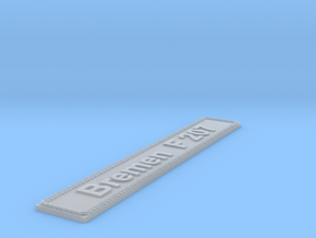 Nameplate Bremen F 207 in Smoothest Fine Detail Plastic