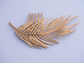 Palm Comb in Natural Brass